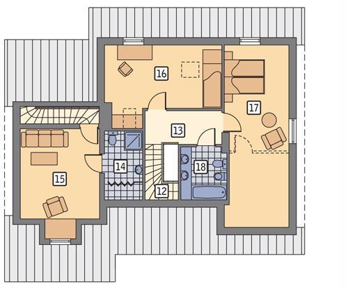 Rzut poddasza POW. 90,3 m²