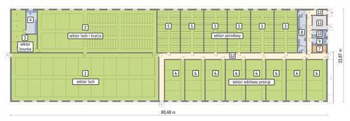Rzut przyziemia POW. 1 760,1 m²