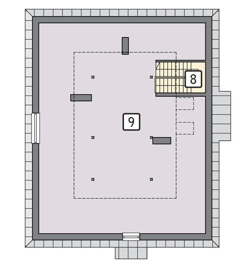 Rzut poddasza POW. 164,6 m²