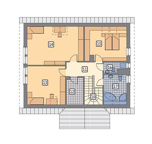 Rzut poddasza POW. 98,0 m²