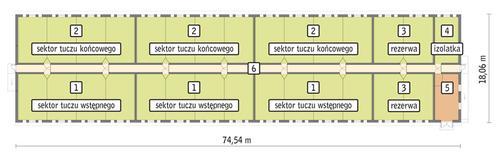 Rzut przyziemia POW. 1 226,5 m²