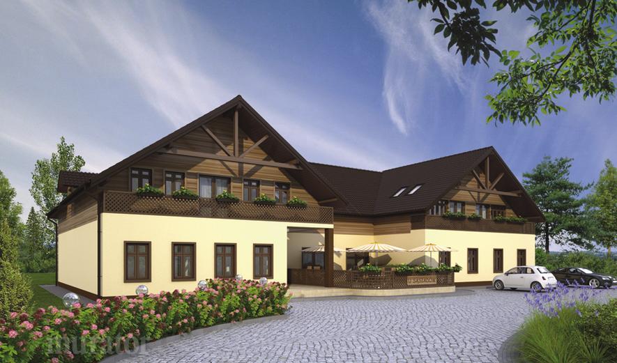 UC39 Budynek usługowy z częścią mieszkalną i pokojami gościnnymi