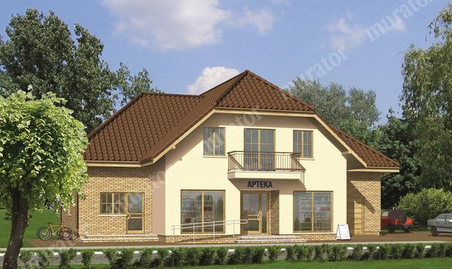 Projekt budynku usługowego:  Murator UC09